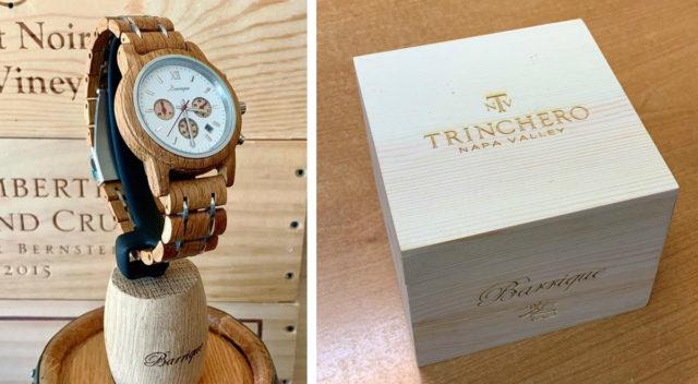 Oak watch and box